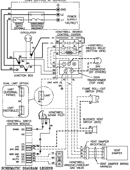 effikal damper wiring diagram